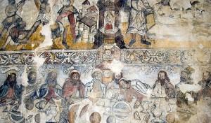Pinturas iglesia San Andres de Biañez, karrantza