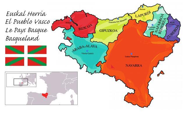 Mapa Pais Vasco Pueblos.Las Provincias Del Pais Vasco 3 O 7