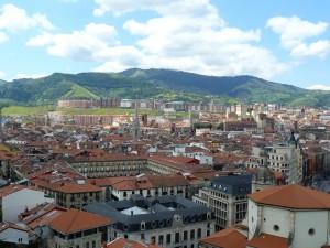 Casco viejo de Bilbao a vista de pajaro