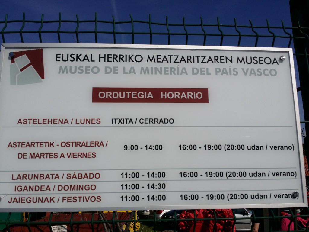 Horario museo de la minería del País Vasco