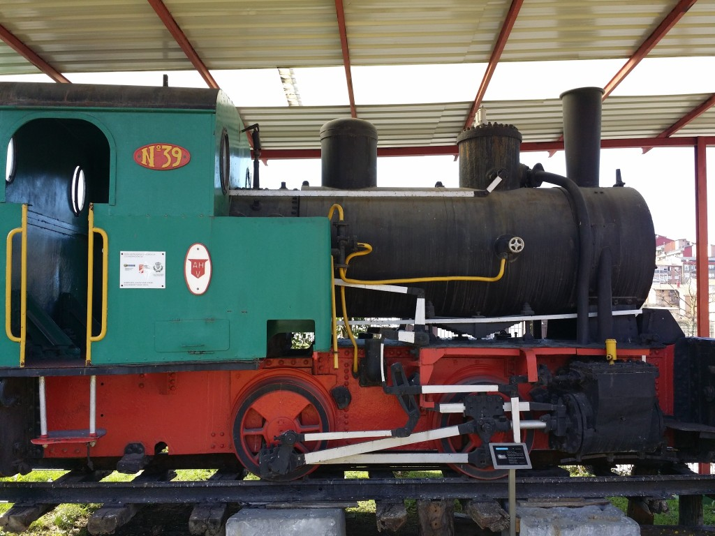 Locomotora del museo de la minería del País vasco