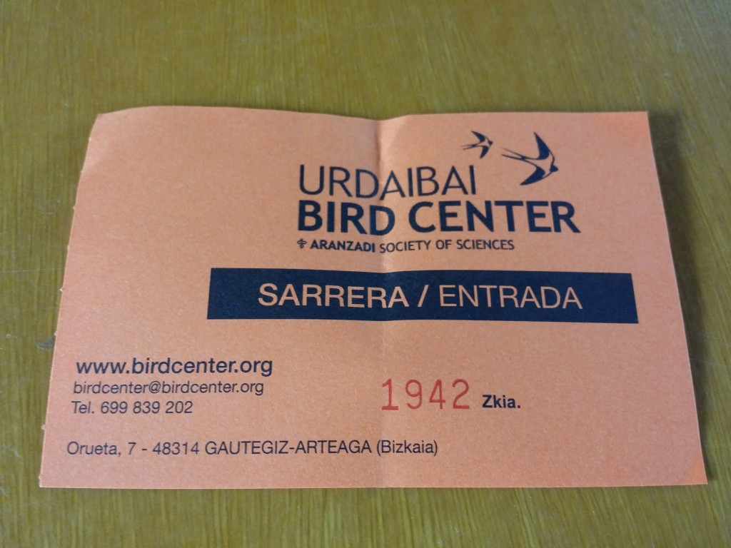 Entrada Urdaibai Bird center