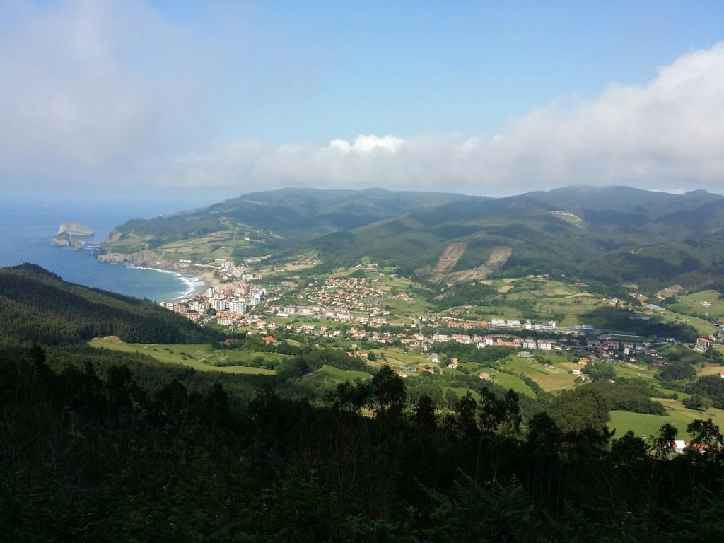 Localidad de Bakio a vista de pajaro gracias a 4x4ocioaventura