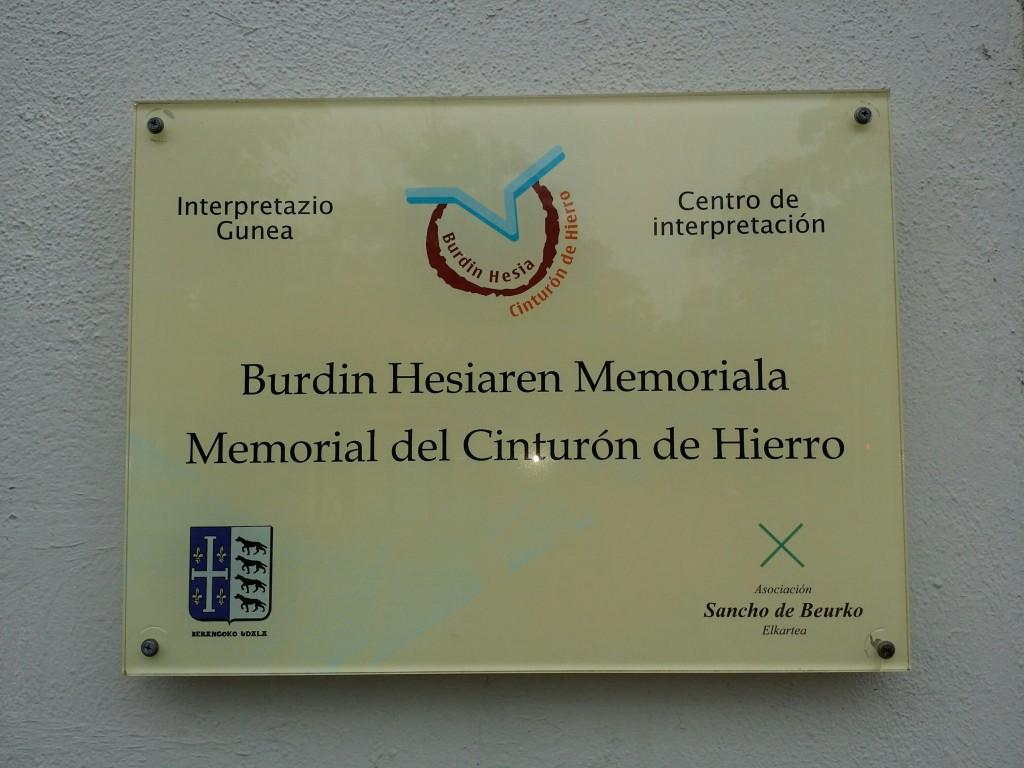 Placa del Memorial Cinturón de Hierro