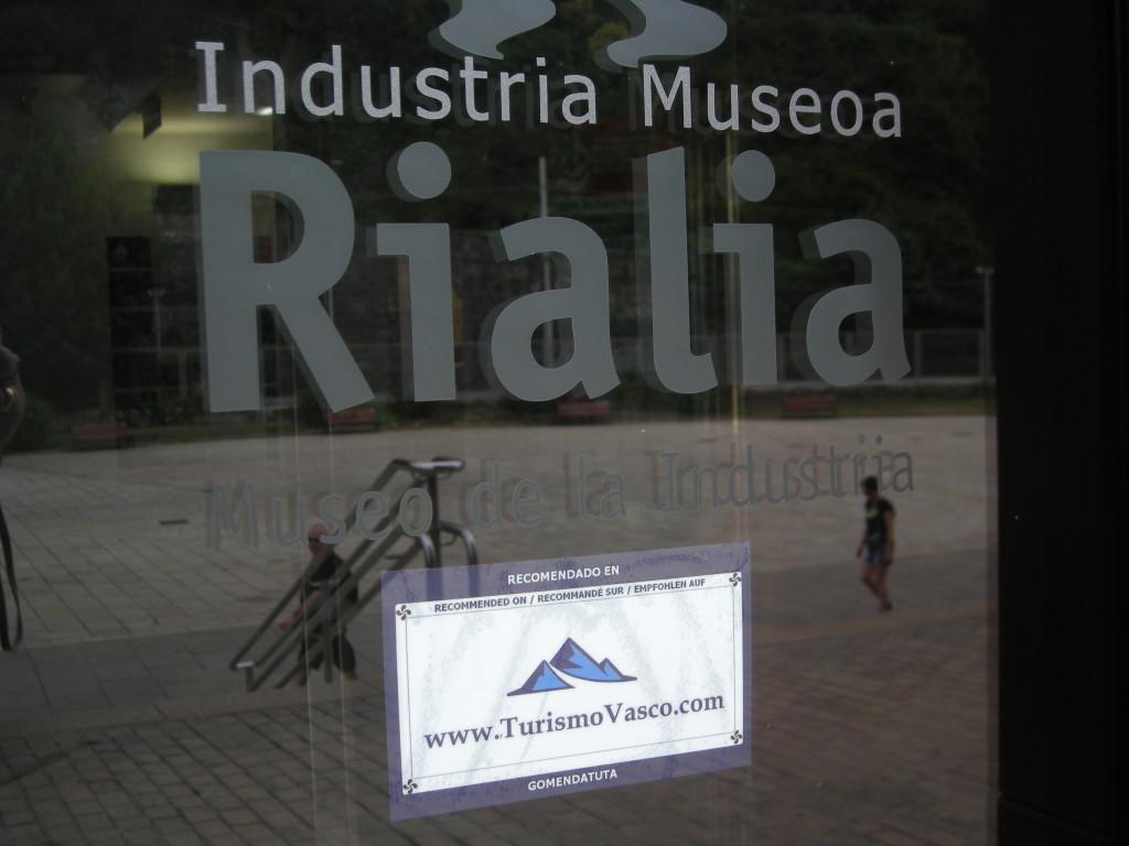 Acreditación TurismoVasco Tiketa en el Museo de la industria, Rialia