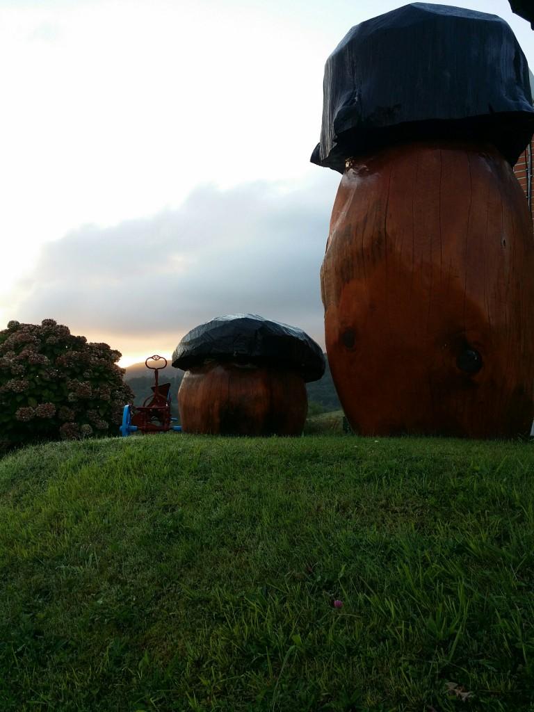 Monumento a  las setas en Hotel Gurutze-Berri
