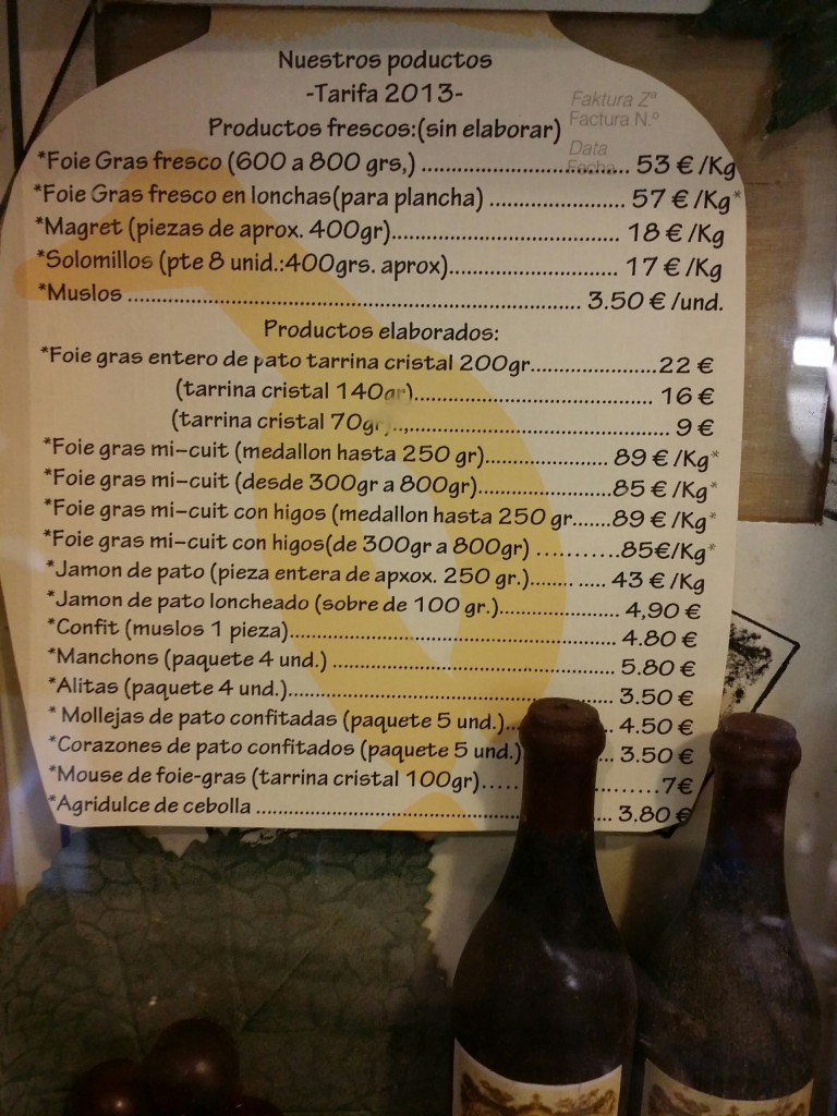 Precios productos Momotegi
