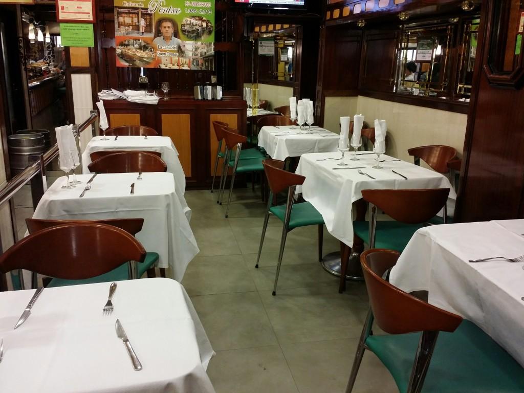 Comedor del bar del restaurante Pentxo