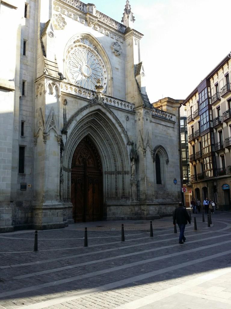 Entrada Catedral de Santiago, Bilbao