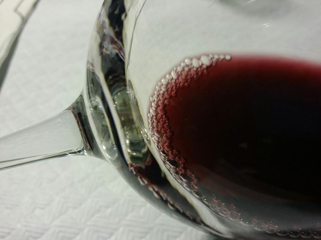 Detalle de vino de la rioja alavesa