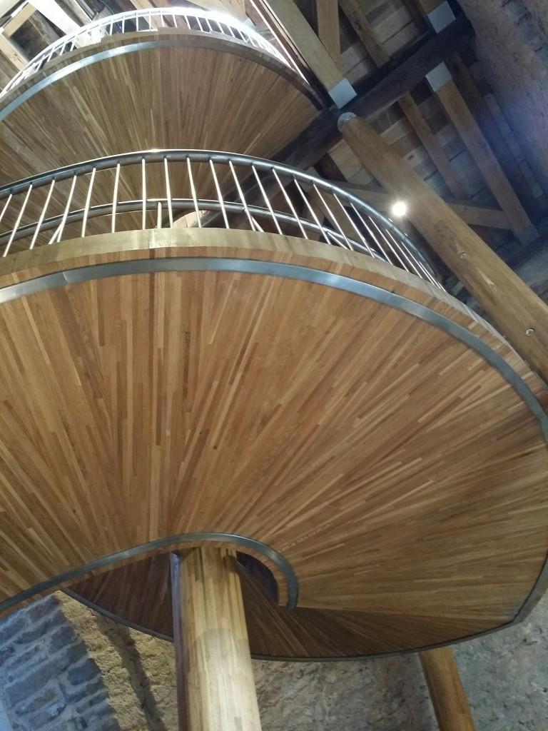 Escaleras del campanario de la catedral de Santa Maria