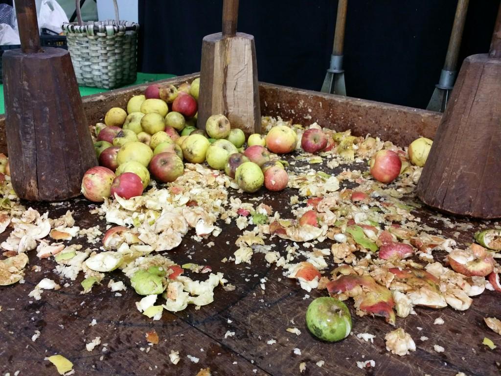 Machacado de manzanas