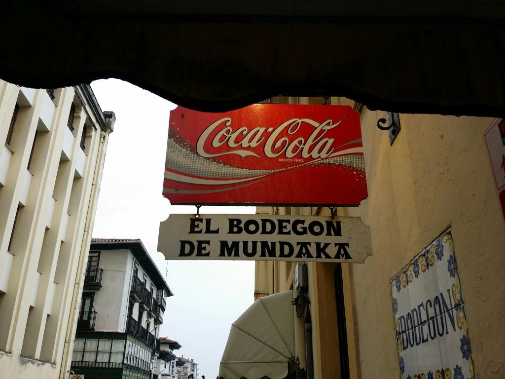 Cartel El Bodegon de Mundaka
