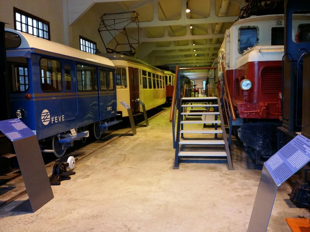 Interior pabellón del Museo Vasco del Ferrocarril