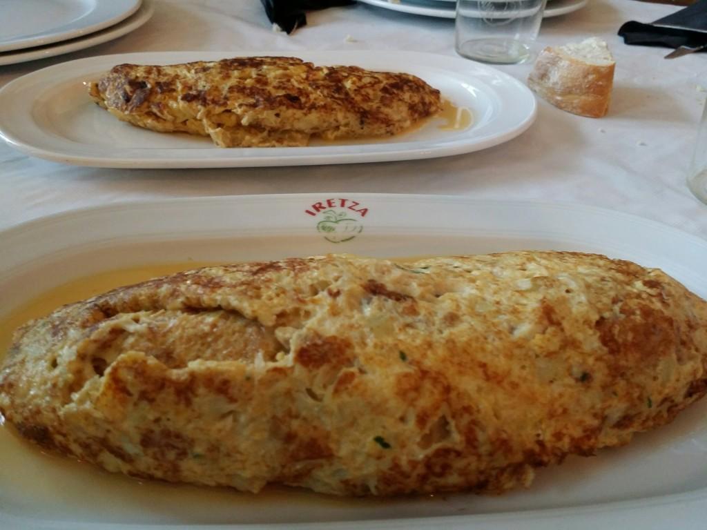 Tortilla de bacalao, Iretza Sagardotegia