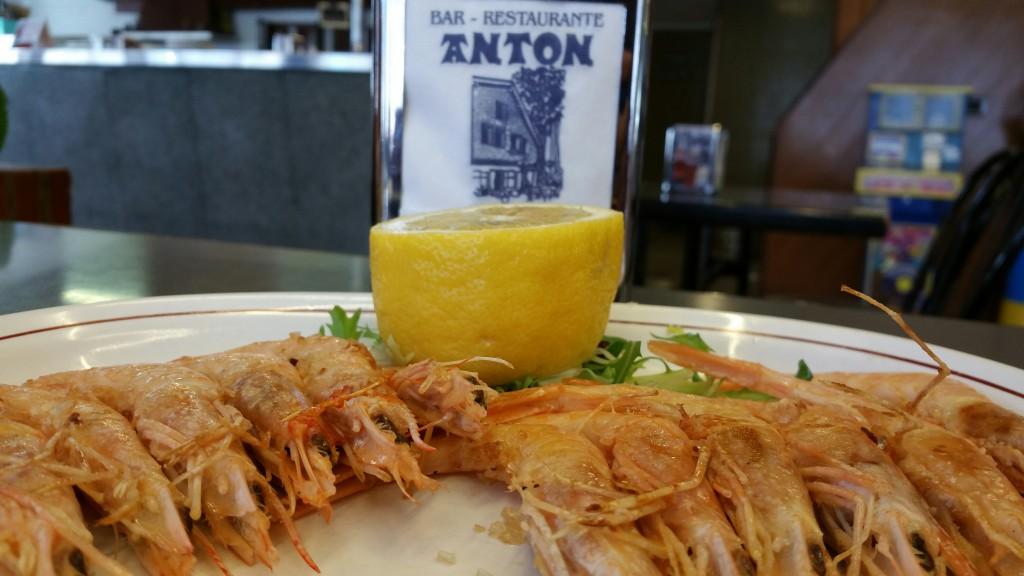 Gambas a la plancha Restaurante Antón