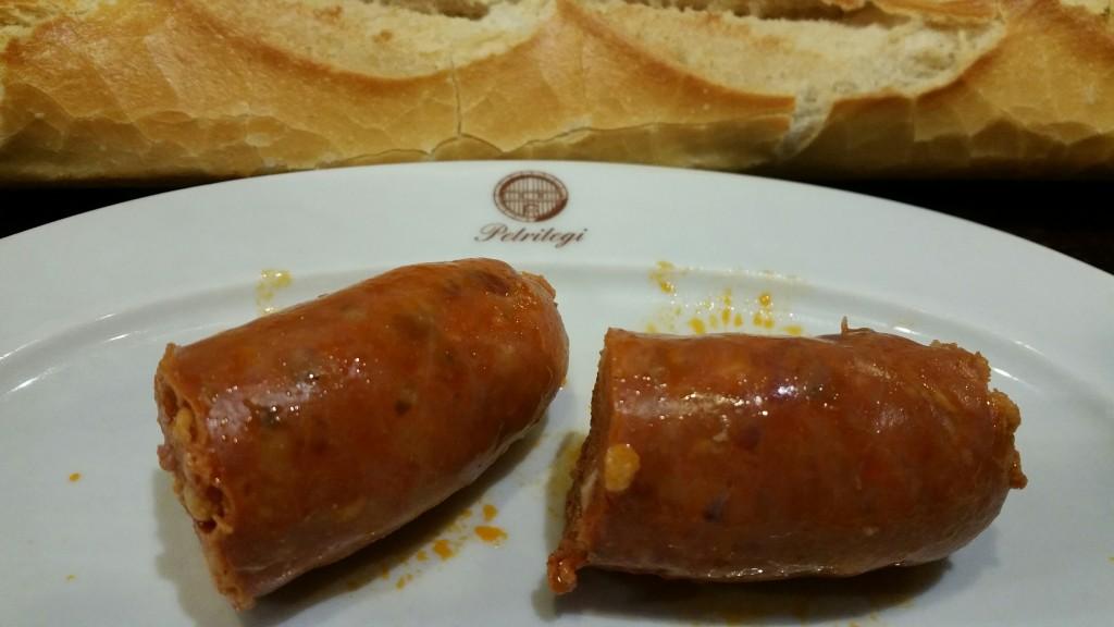 Chorizo a la sidra, Petritegi