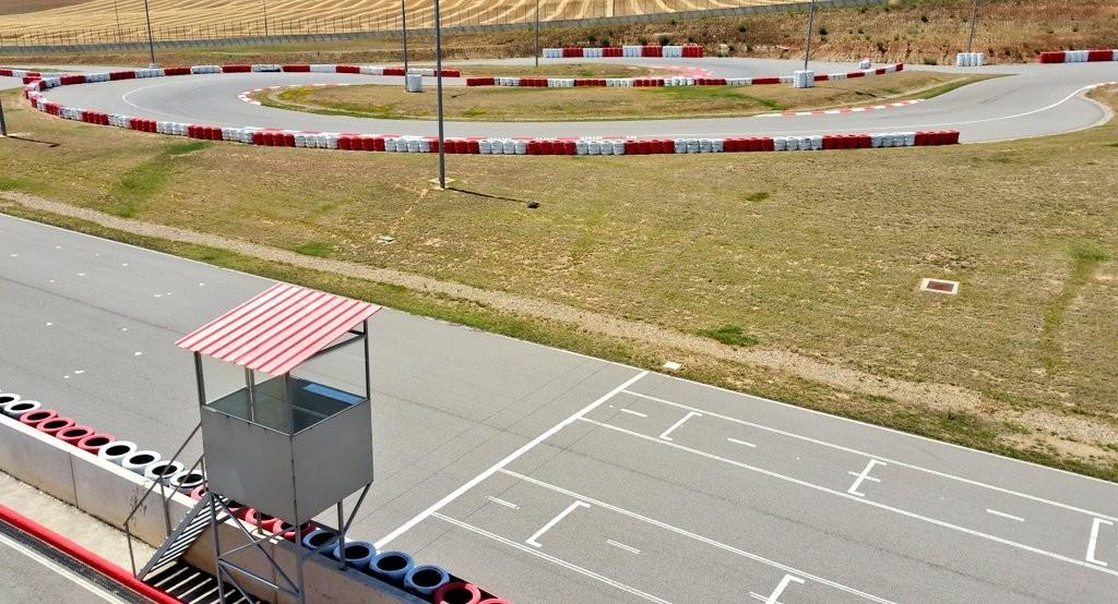 Circuito de Karting Navarra desde las alturas