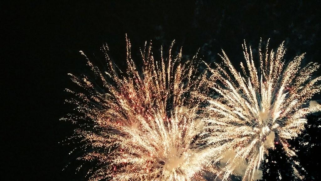 Fuegos artificiales fiestas de Bilbao