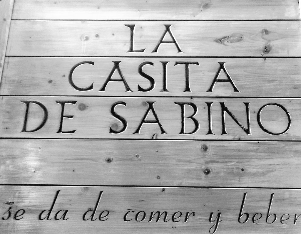 Cartel La casita de Sabino