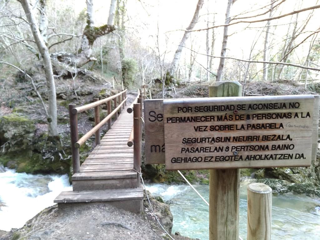 Puente sobre Urederra, máximo 8 personas