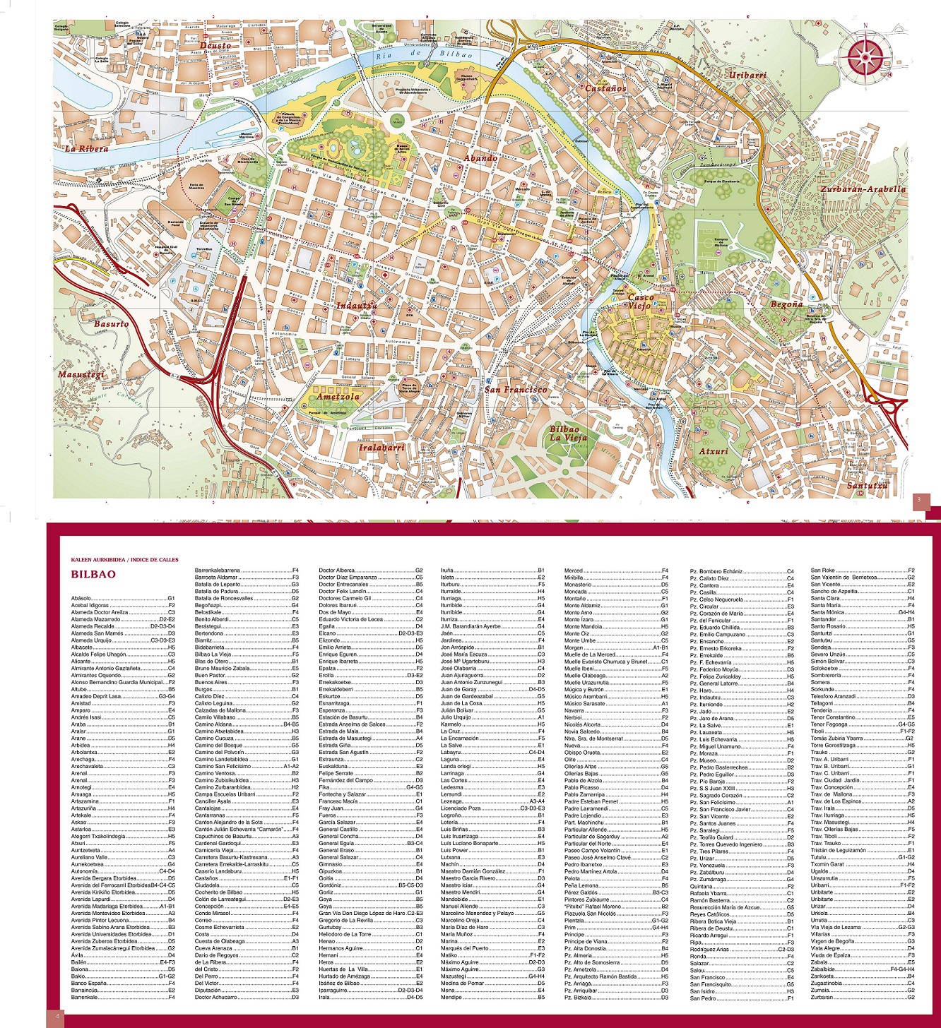 Bilbao Mapa Turistico Callejero Turismovasco Com