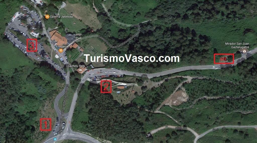 Oficina de Turismo de San Juan de Gaztelugatxe, situación
