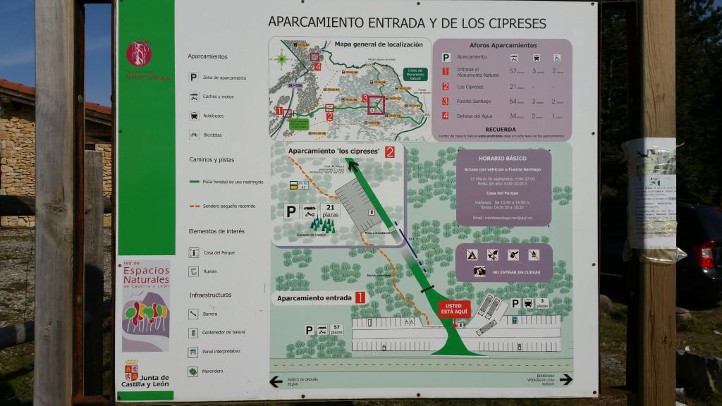 Plano general del Monumento Natural Monte Santiago