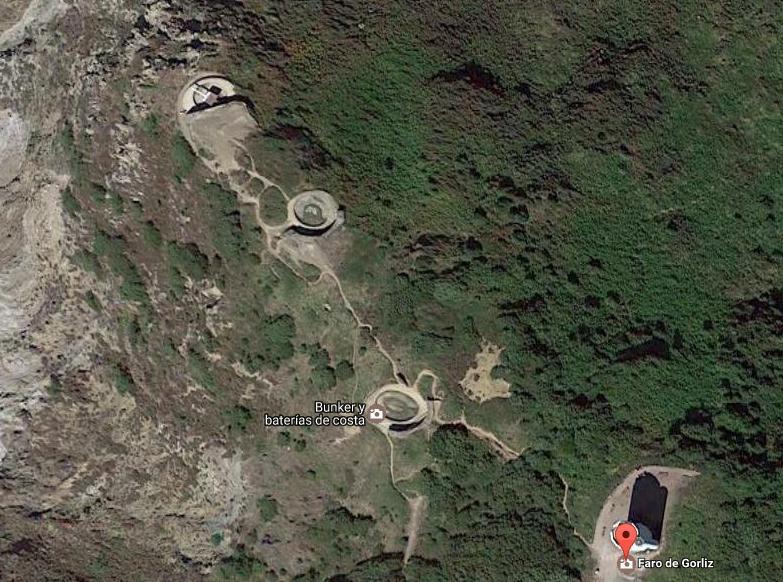 Tuneles, cañones y bankers del Faro de google desde el aire, Google Maps