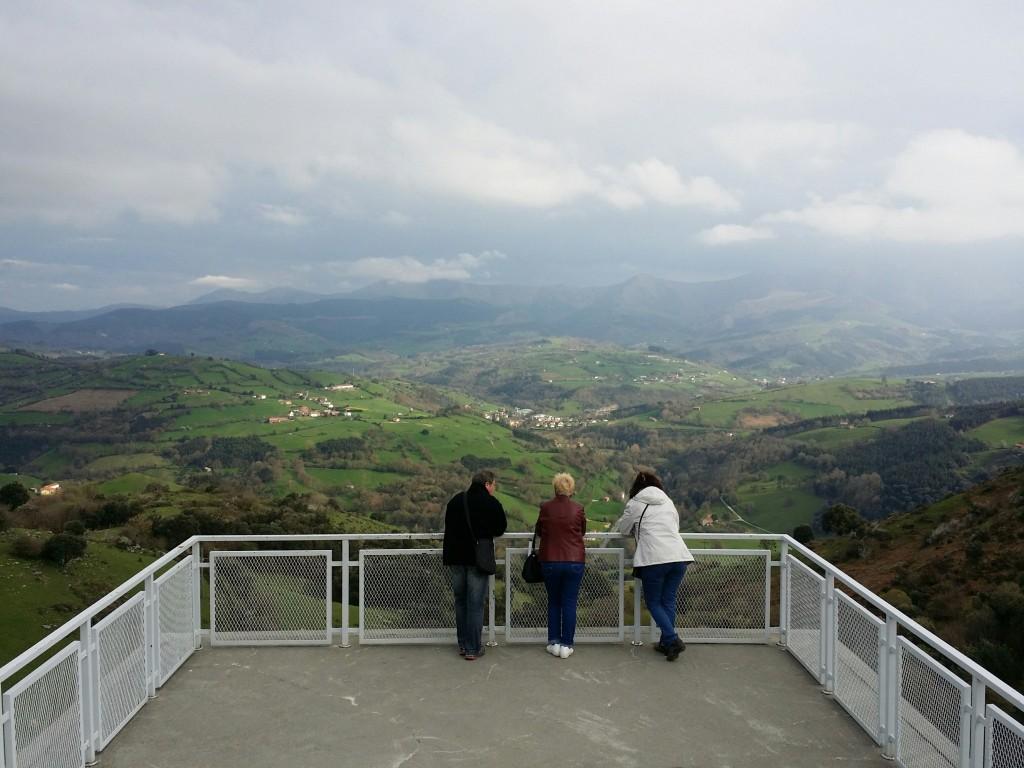 Vistas desde el centro de interpretación de Armañon