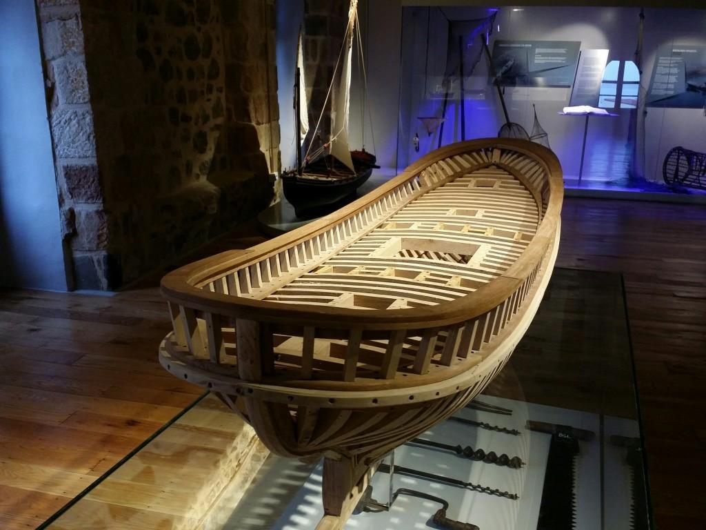 Maqueta en el museo del pescador