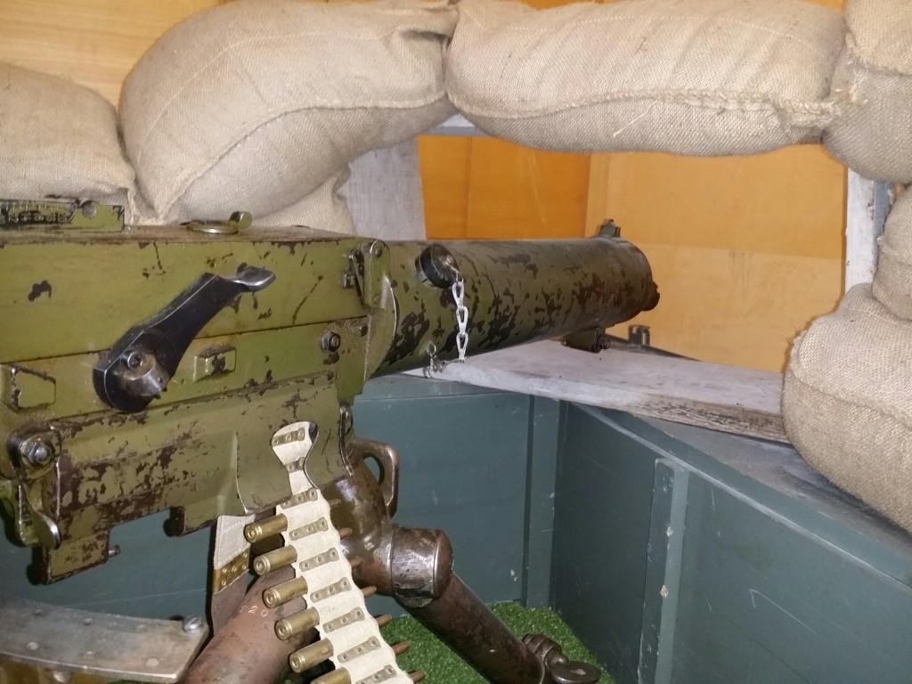 Nido de ametralladora del Memorial Cinturon de Hierro