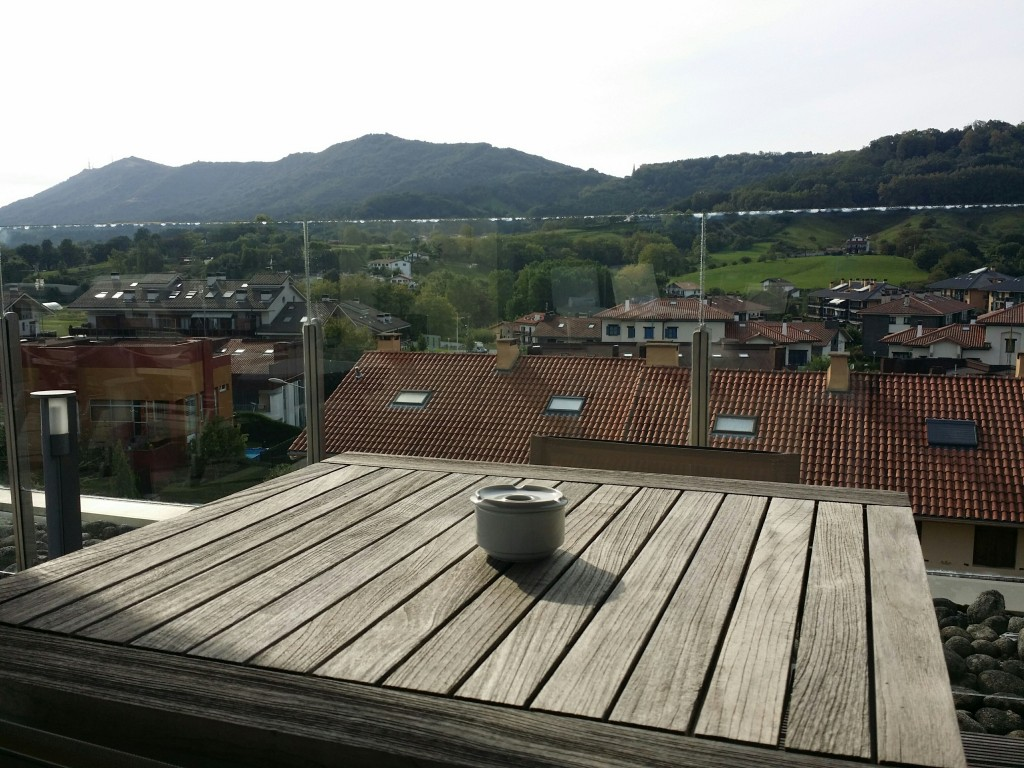 Vistas del solarium del Hotel Jaizkibel