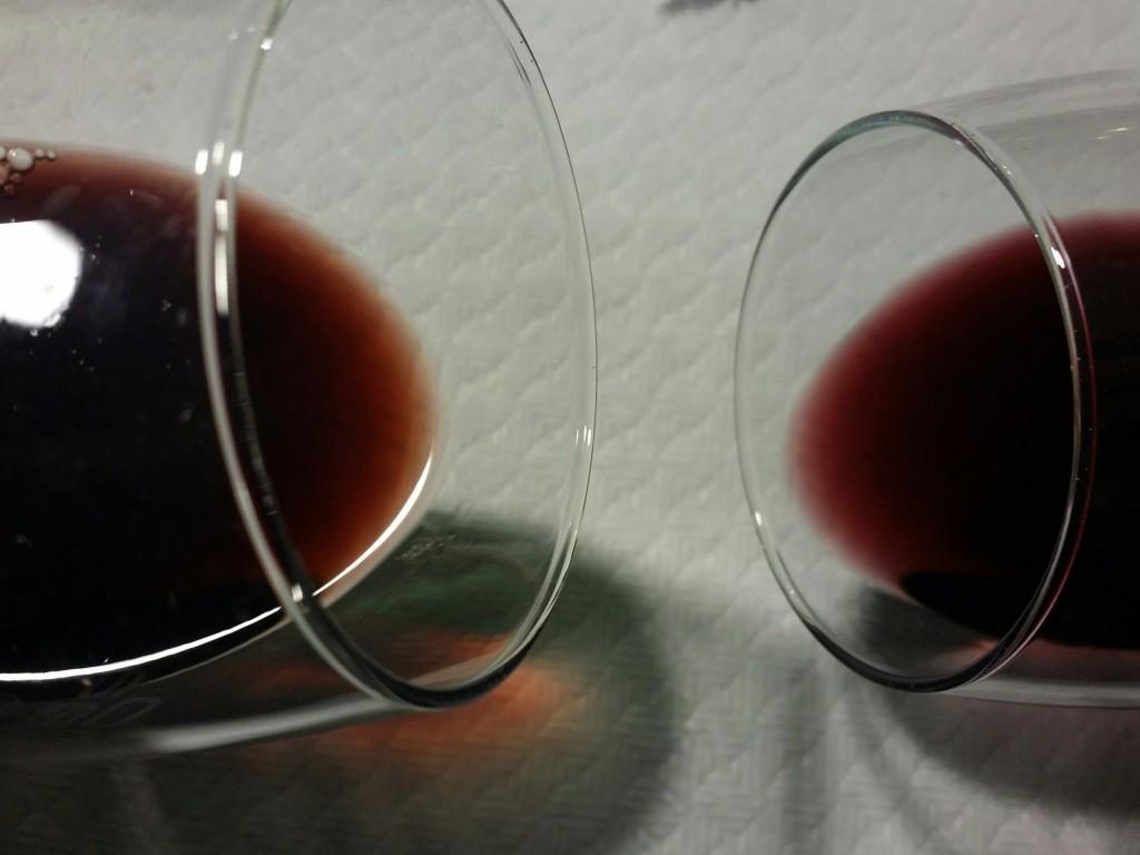 Cata de colores de vino de la rioja alavesa