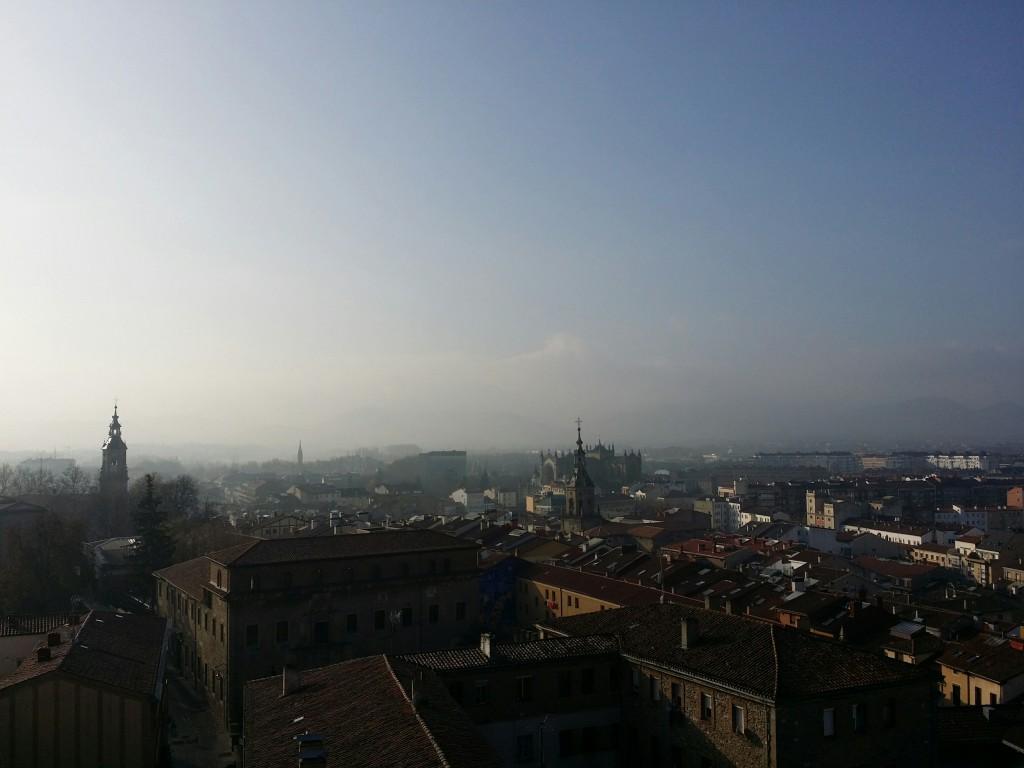 Vista de la catedral nueva desde la Catedral de Santa Maria