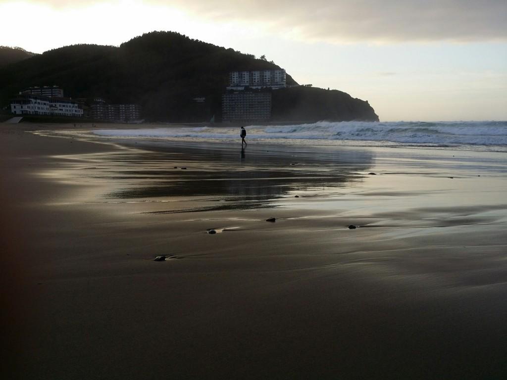 Playa de Bakio al anochecer