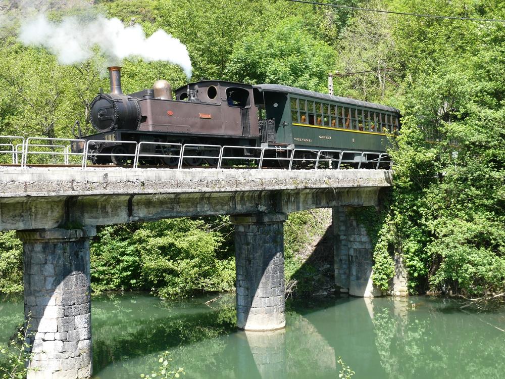 Tren de vapor del Museo Vasco del Ferrocarril