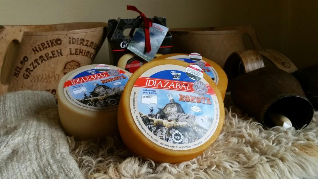 Productos del caserío Berastegi, queso idiazabal Xoxote