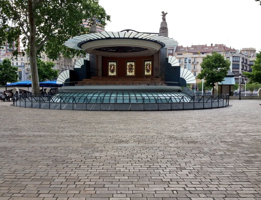 El kiosko del arenal de Bilbao