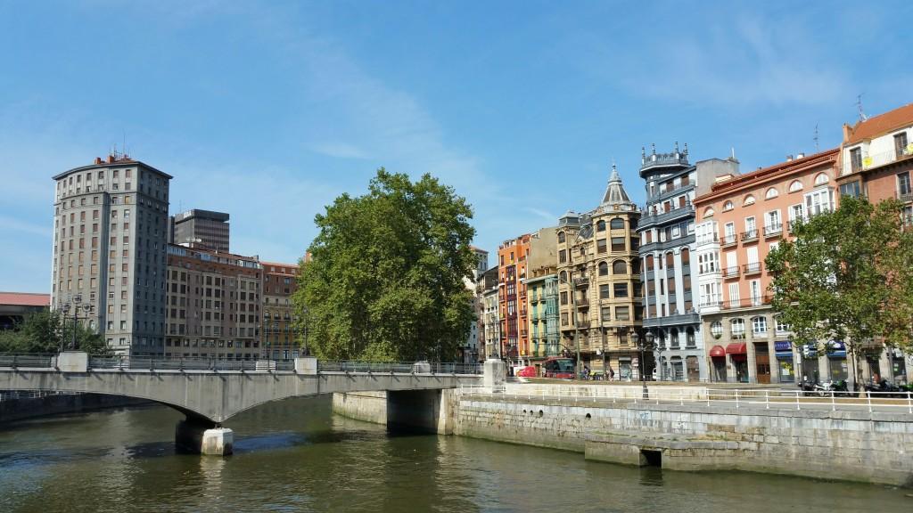 Casco viejo de Bilbao desde Marzana