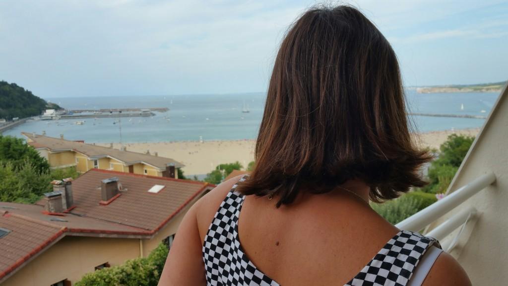 Mirada a la playa de Hondarribia