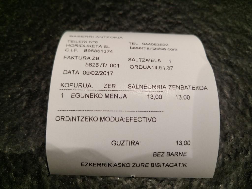Factura Baserri Antzokia