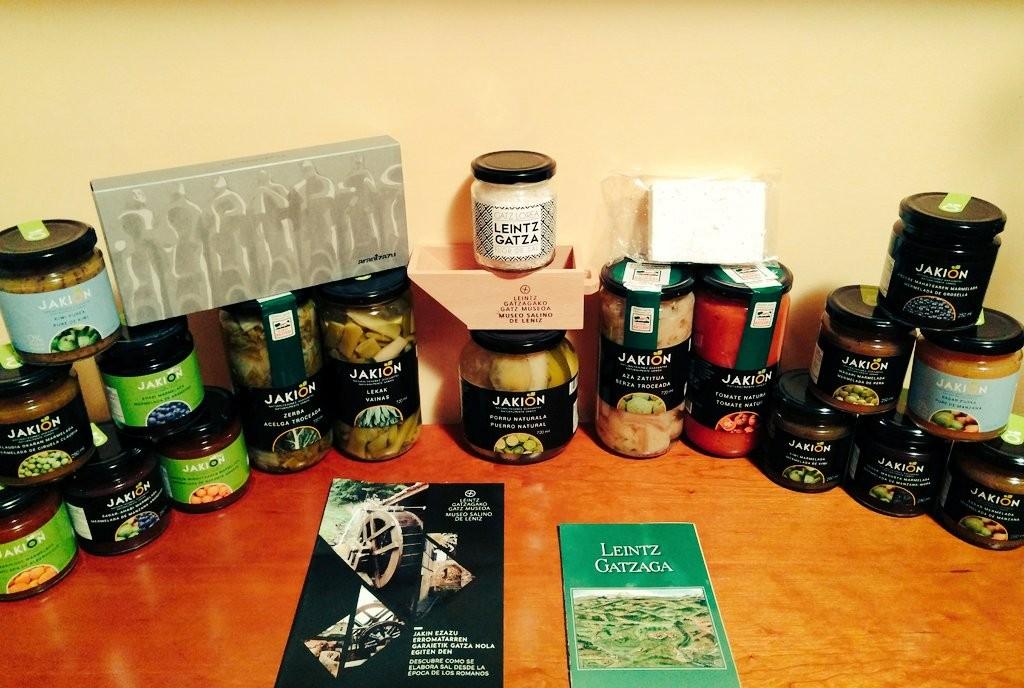 Productos naturales de Leintza Gatzaga, sal, conservas y mermeladas