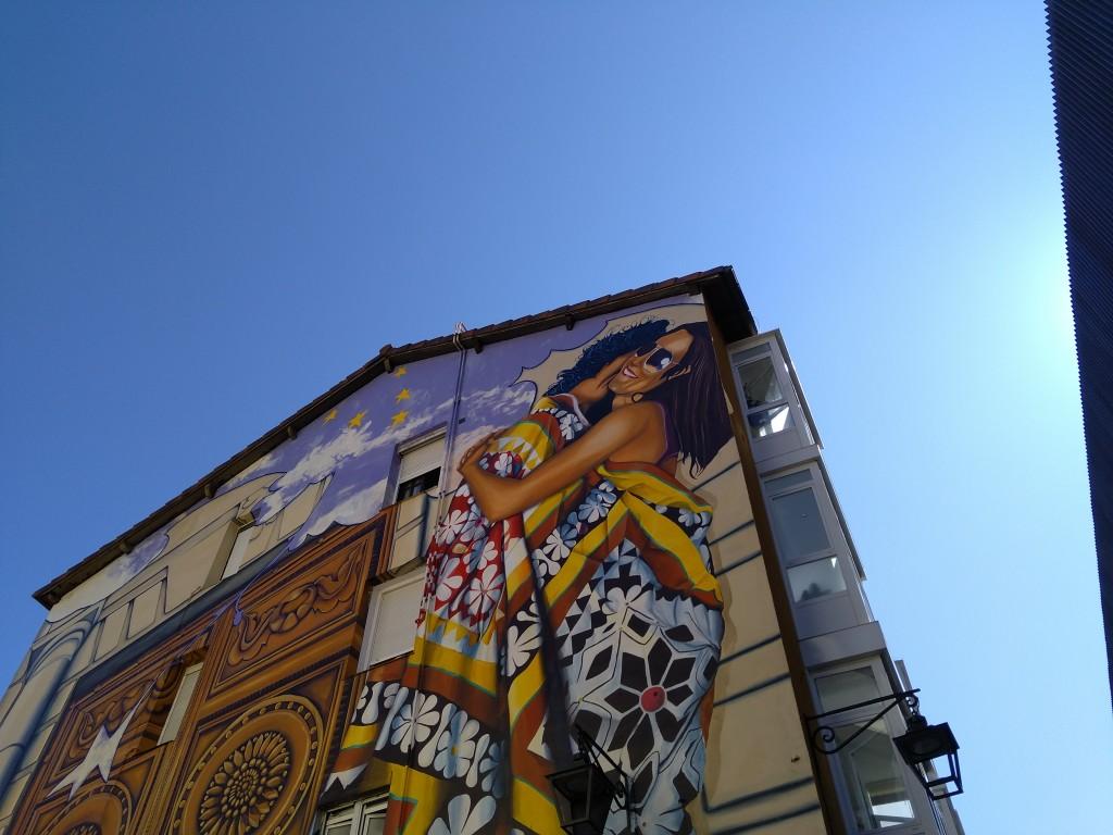 Mural Cubiertos de cielo y estrellas Vitoria-Gasteiz