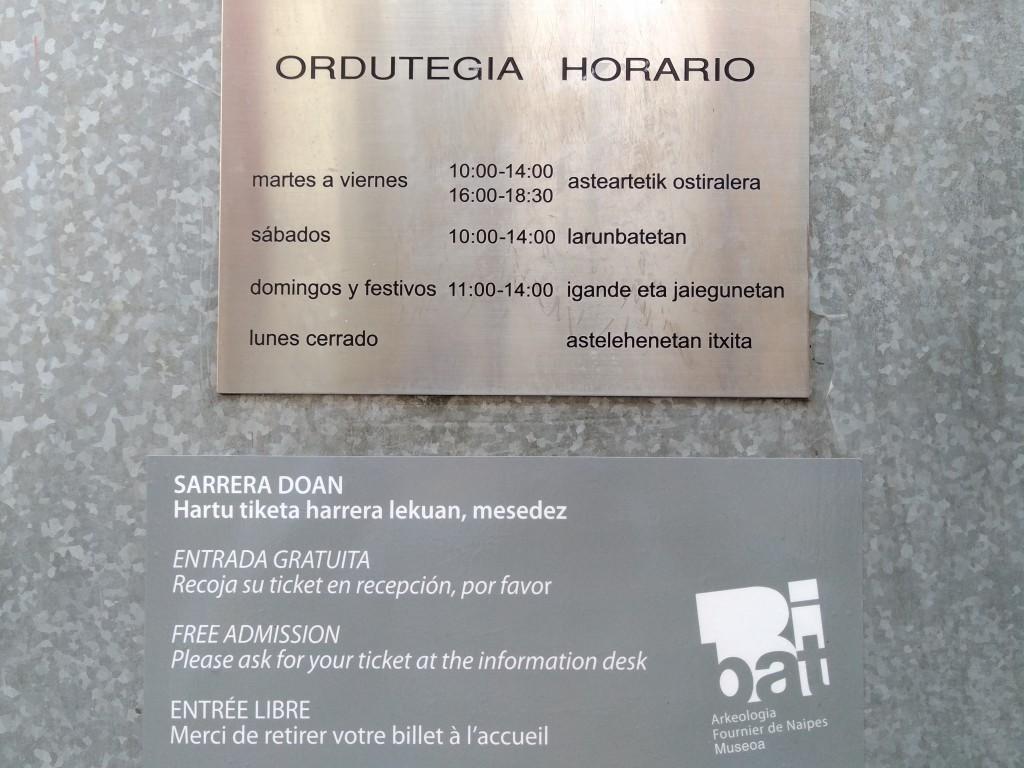 Horario Museo Bibat