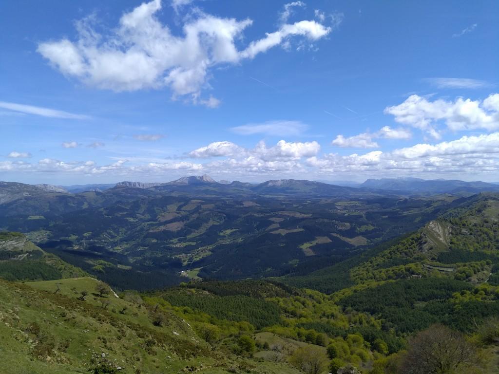 Vistas desde las campas de Arraba, Gorbeia