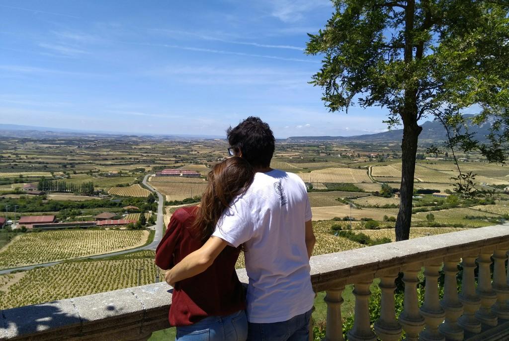 Vistas en el exterior de Laguardia, Rioja Alavesa