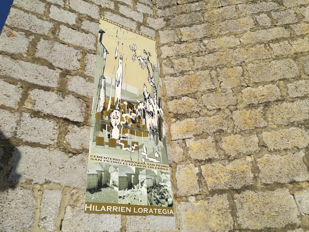 Cartel Jardín de estelas, Abaurrea Alta, pirineo Navarro