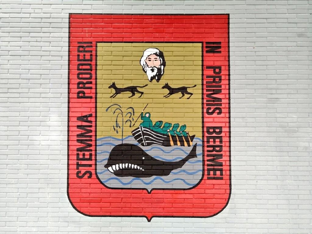 Escudo de Bermeo, mural en la tala