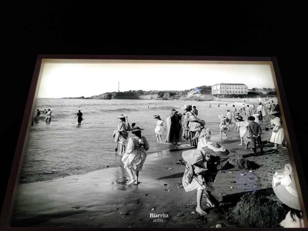 Foto de la epoca en el Aquarium de Biarritz